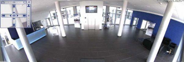 Сетевая камера Mobotix Q24, пример панорамного изображения